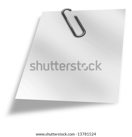 White piece of paper on a white background
