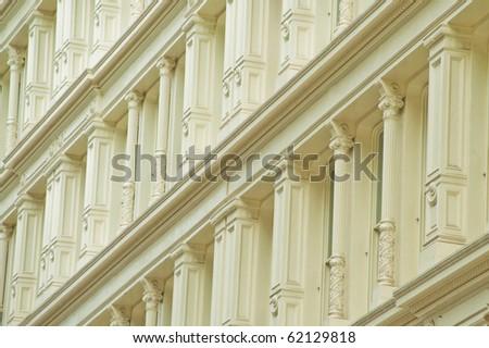 White pillars - stock photo