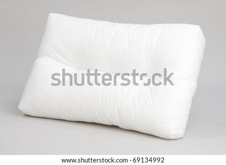 White pillow a hygiene bedding accessory isolated