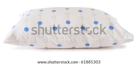 White pillow. Isolated - stock photo