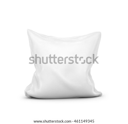 white pillow on white background. 3d illustration