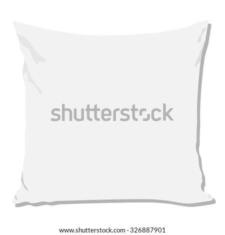 White pillow, pillow isolated, pillow raster, pillow - stock photo