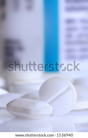 white pills - stock photo