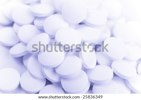 white pills background