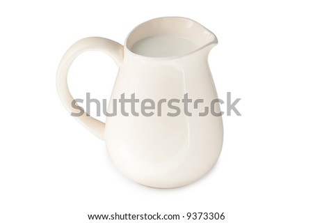 white pitcher isolated on white