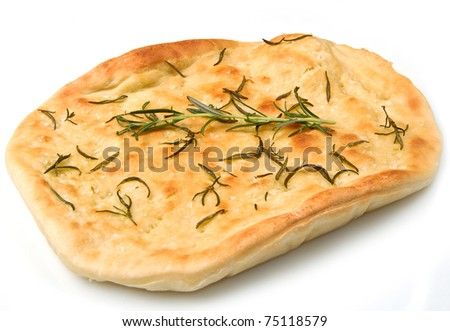 white pizza with fresh rosemary - stock photo