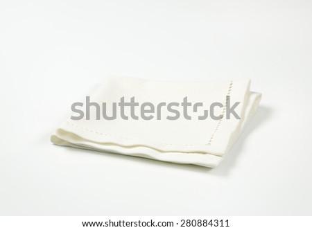 white place mat on white background - stock photo