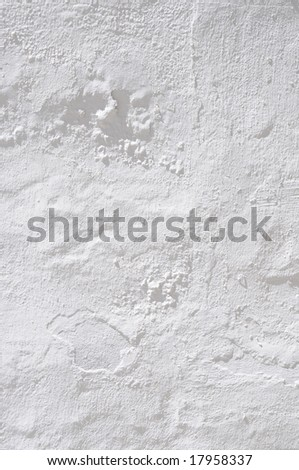white plaster - stock photo