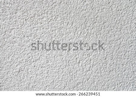 white plaster wall background - stock photo