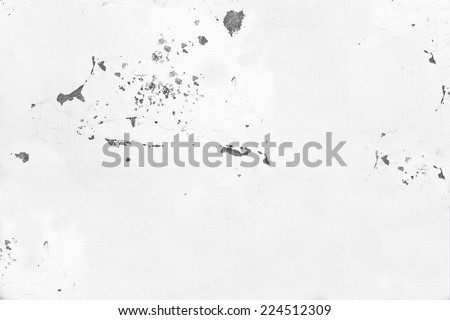 White Plastered Old Wall. Background and Texture for text or image. - stock photo