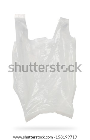 White Plastic Bag Isolated On White