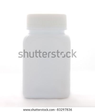 White plastic bottle - stock photo