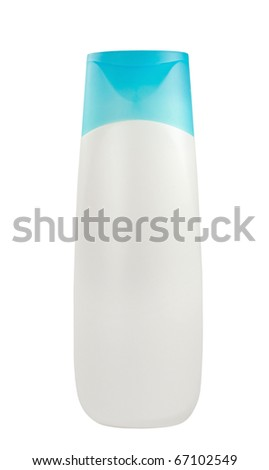White plastic bottle isolated on white