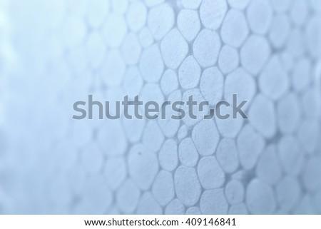 White Plastic Foam Texture close up shot, foam background I - stock photo