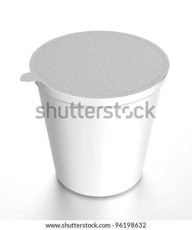 White plastic food containe