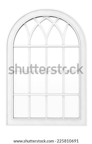 White Plastic Window on a white background - stock photo