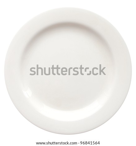white plate isolated on white (series) - stock photo