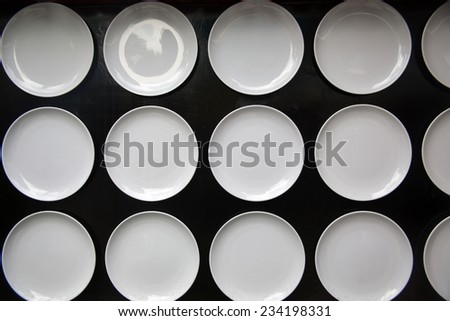 white plate on wall