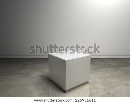 white plinth to place product - stock photo