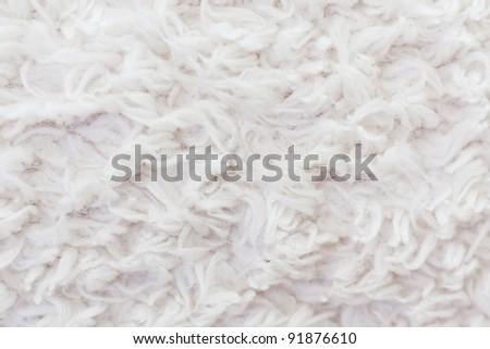 white plush or wool texture - stock photo