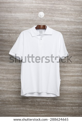White polo shirt for template.