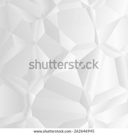 white polygonal background - stock photo