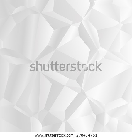 white polygonal background - stock photo