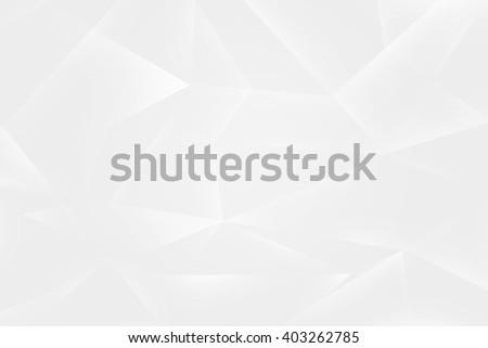 White Polygons Background Texture - stock photo
