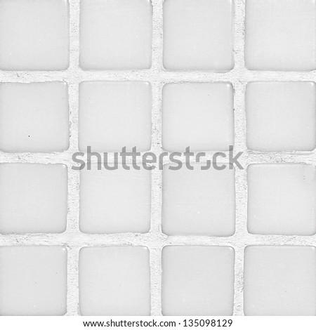 White pool tile texture. - stock photo