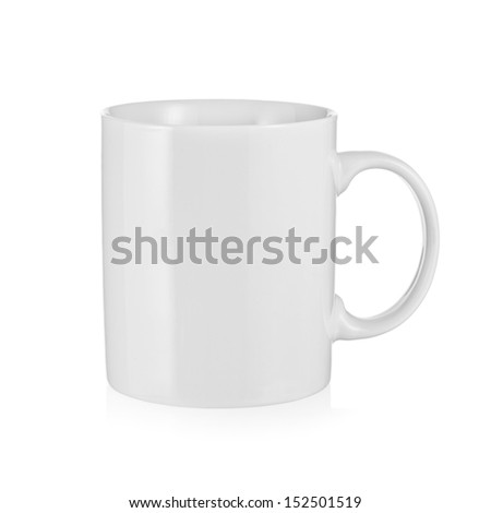 White porcelain coffee cup - stock photo