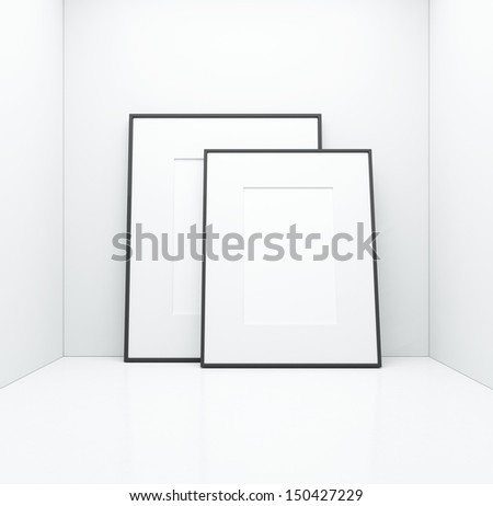 white posters  - stock photo