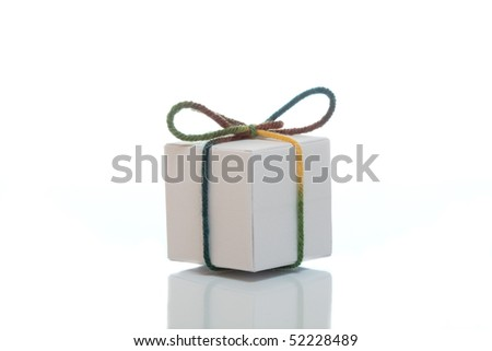 White present box on isolated background