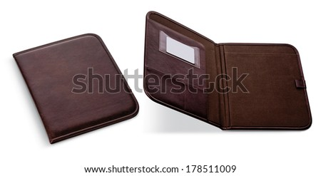 white product lock design business pocket flat envelope brief carton document hanger information folder handle holder isolated	  - stock photo
