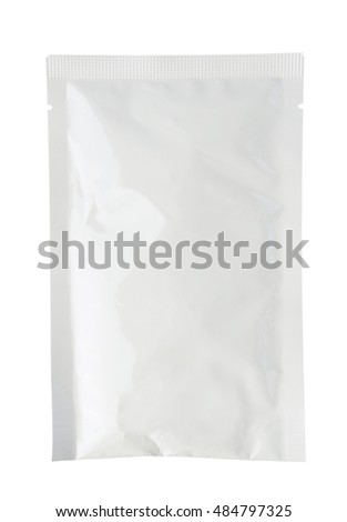 White product packaging on white background