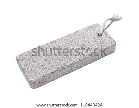 white pumice stone isolated