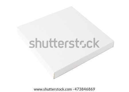 White rectangle package cardboard box isolated on white background