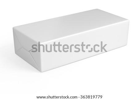 White rectangular packaging - stock photo