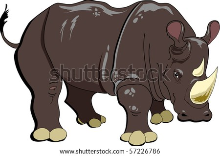 White Rhino - The White Rhinoceros or Square-lipped rhinoceros (Ceratotherium simum) is one of the five species of rhinoceros that still exist and is one of the few megafaunal species left.