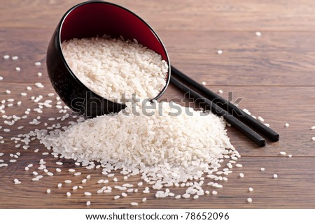 White rice - stock photo