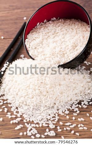 White rice - stock photo
