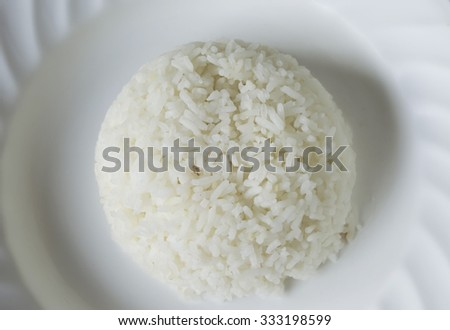 white rice in di
