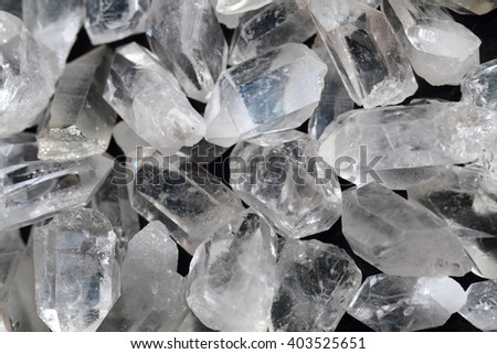 white rock-crystal texture as very nice mineral background - stock photo