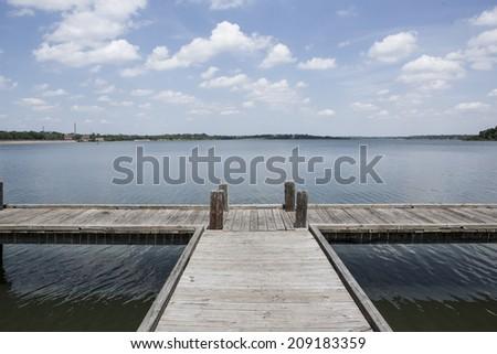 White Rock Lake in Dallas, TX. April 23, 2014 - stock photo