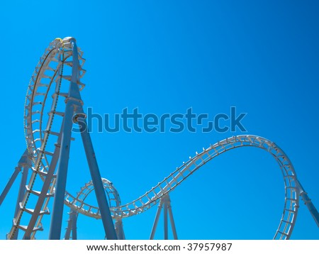 White Roller Coaster - stock photo