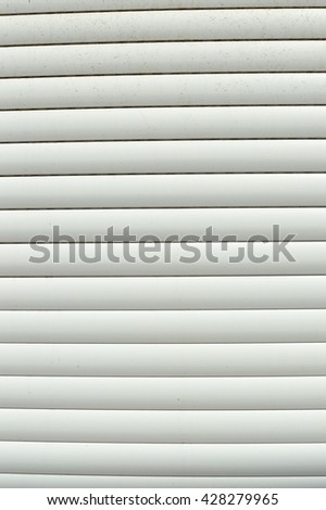 White roller shutter background surface
