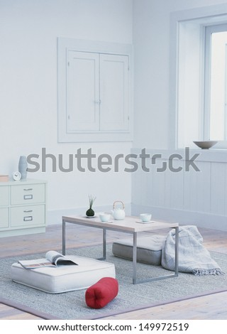 White room  - stock photo