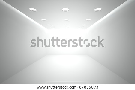 white room 3 - stock photo
