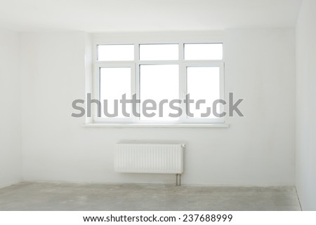 White room full of light with window - stock photo