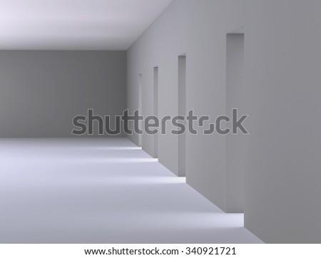 White room Interior - stock photo
