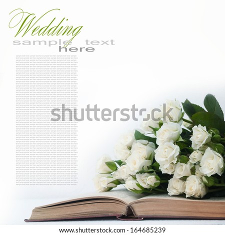 White roses - stock photo